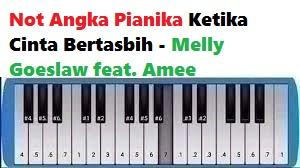 Not Angka Pianika Ketika Cinta Bertasbih Melly Goeslaw Feat Amee Calonpintar Com
