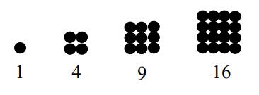 Gambar Pola Bilangan Persegi