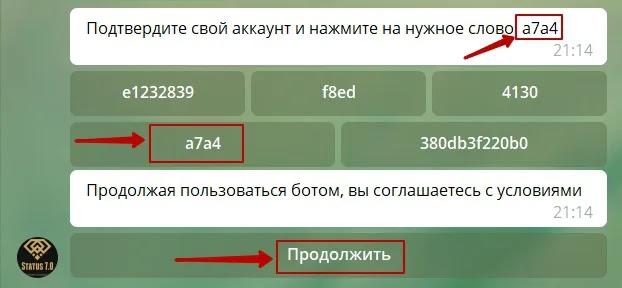 Регистрация в Status 7.0 2
