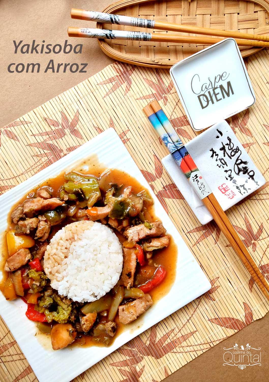 Yakisoba com Arroz Cozinha do Quintal