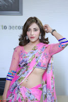 Actress Angela Krislinzki in Pink Saree Blouse Exclusive Pics March 2017 ~  085.JPG
