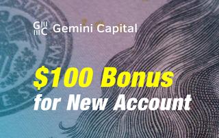 Gemini Capital $100 Forex No Deposit Bonus