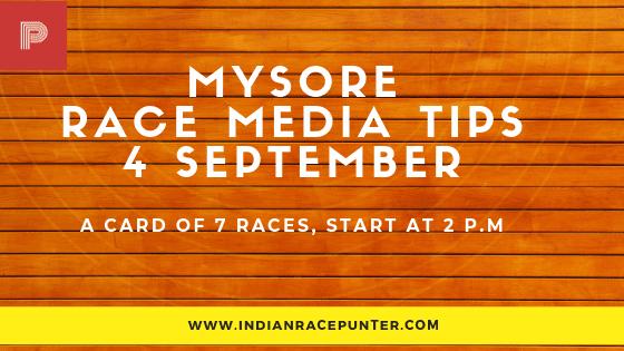 Mysore Race Media Tips 4 September