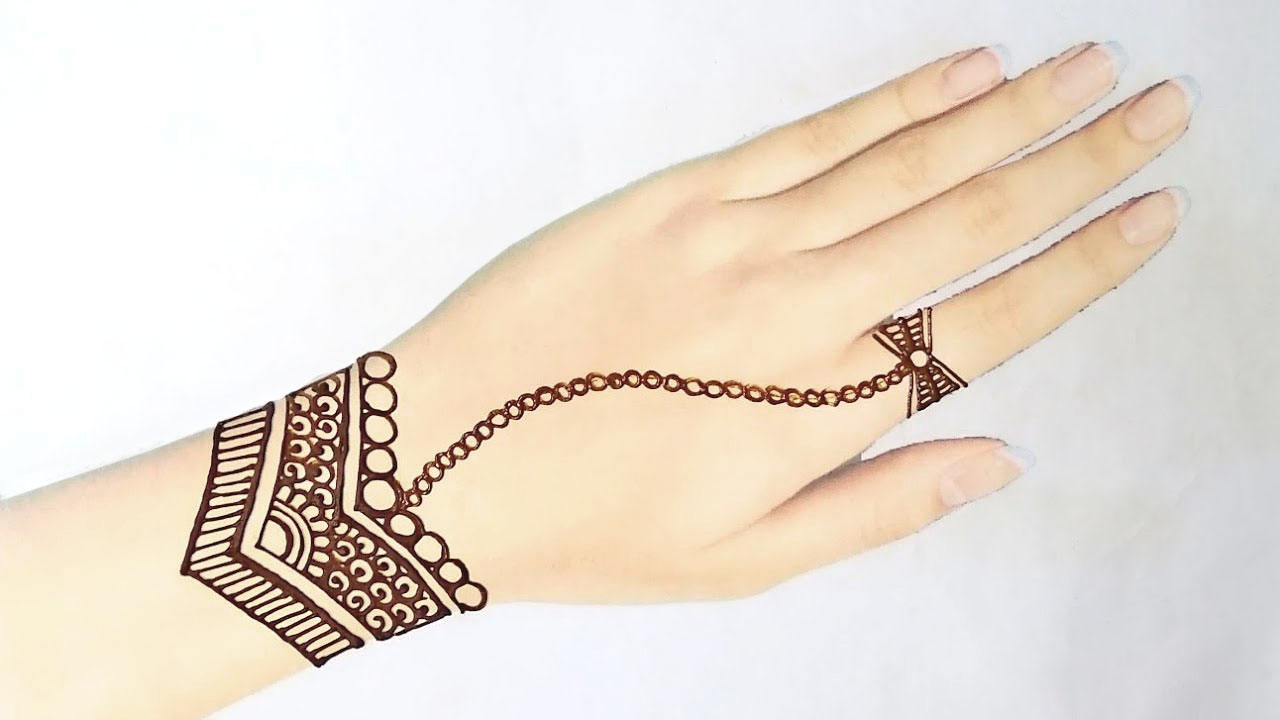 New Latest Simple Jewellery Mehndi Design