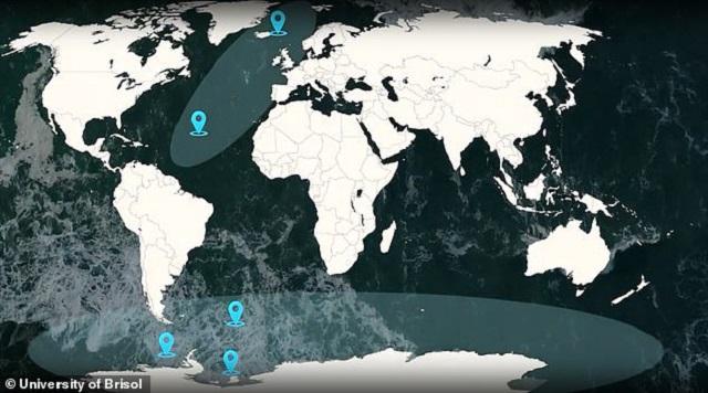 Τα είδη που ζουν στους ωκεανούς φεύγουν προς τους πόλους της Γης