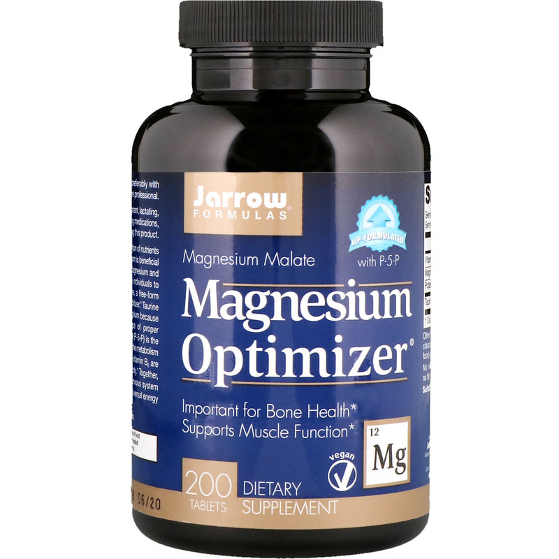Jarrow Formulas, Magnesium Optimizer, 200 таблеток