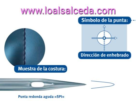 Aguja de maquina de coser SPI, aguja de punta redonda SPI