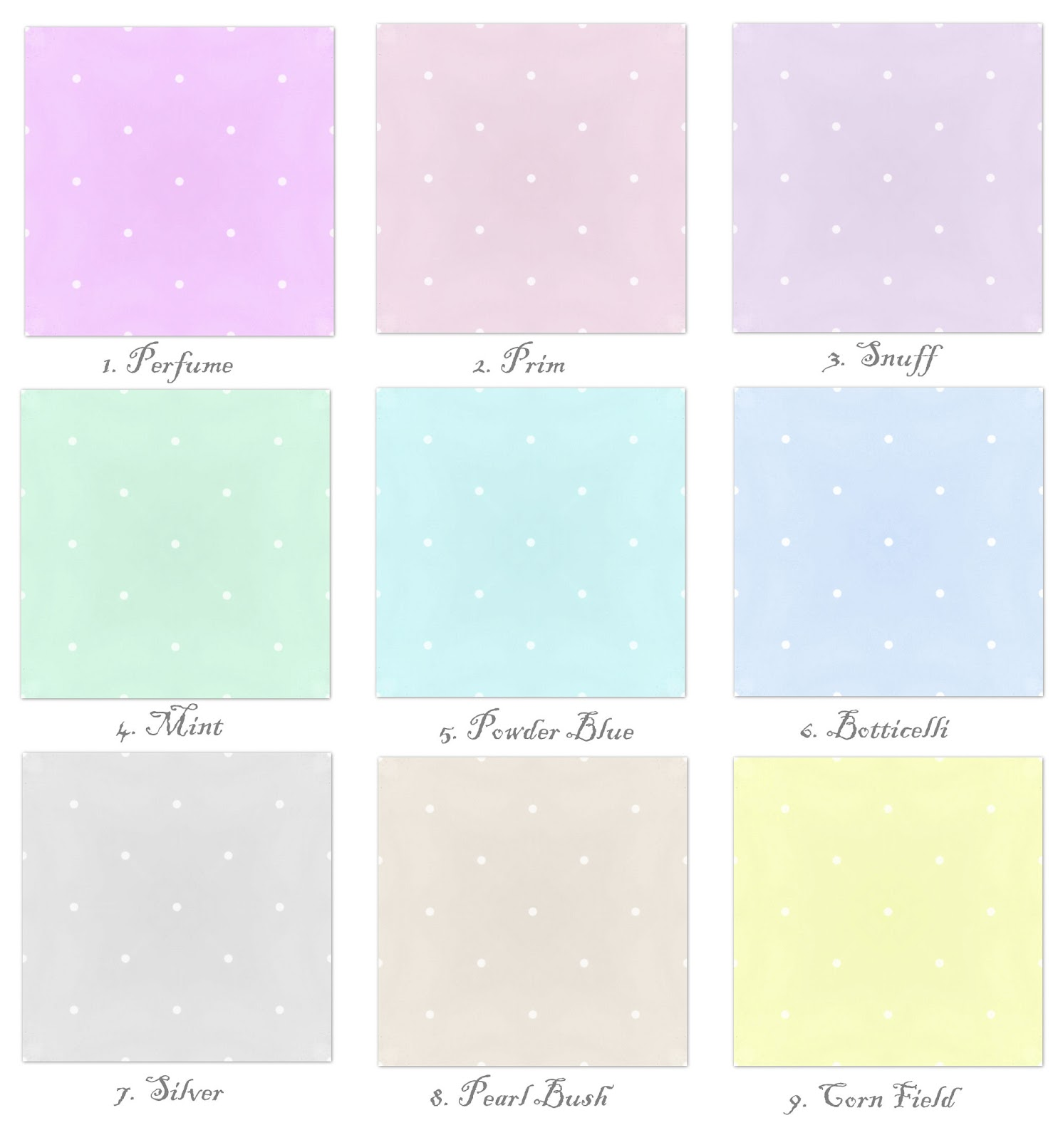 Mint Colour Code >> *Cute ᾔ CooL* : Polka Dot Pastel Collection + edit.