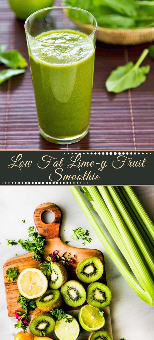 Low Fat Lime-y Fruit Smoothie  #healthydrink #easyrecipe #cocktail #smoothie