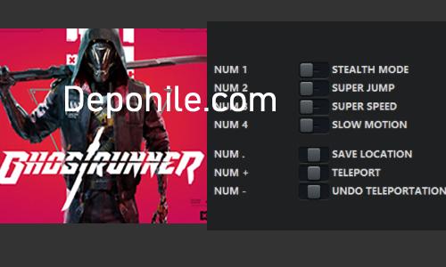 Ghostrunner PC Oyunu Çalışan Teleport, Hız Trainer Hilesi İndir