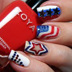 4th of july nail art designs