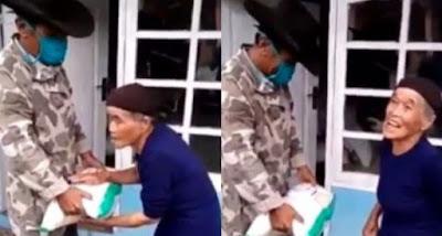 Nenek miskin tolak bantuan beras