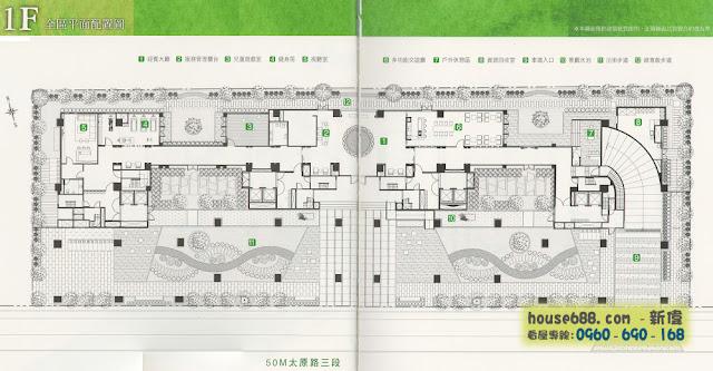 惠宇原山 1樓平面圖