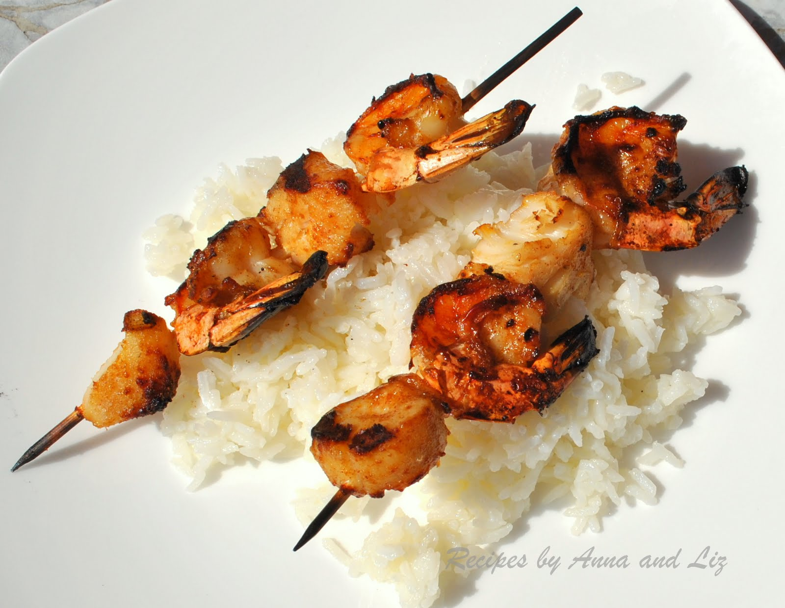 Best Grilled Shrimp and Scallop Kabobs - 2 Sisters Recipes ...
