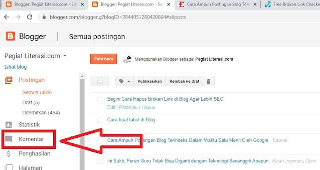 cara hapus broken link di blog