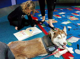 Therapy Dogs help children improve reading skills!