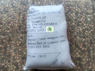 Benih Padi Pesanan  SUNARTO Banjarnegara, Jateng.   (Setelah di Packing).
