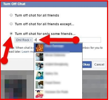 how to show offline on facebook chat