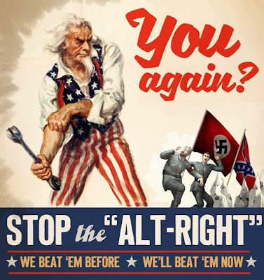 Stop the ALT RIGHT - Uncle Sam Beating the Nazi and American South