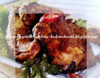 cara membuat ayam sapit, masakan palembang, olahan daging ayam
