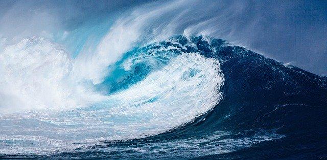gelombang, laut, gelombang laut, angin, taufan, berpindah, gerakan, kini saya ngerti