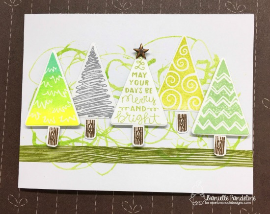 Christmas Tree Card by Danielle Pandeline | Festive Forest Stamp Set by Newton's Nook Designs #newtonsnook