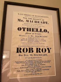 1828 Playbill advertising Othello and Rob Roy  on display at Theatre Royal, Bury St Edmunds