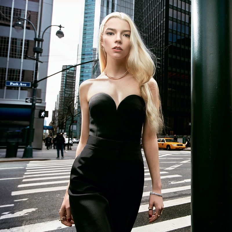 Anya Taylor-Joy stars in Tiffany & Co. Knot Your Typical City campaign.