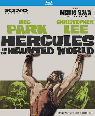 Kino Classics' Bluray cover for HERCULES IN THE HAUNTED WORLD!