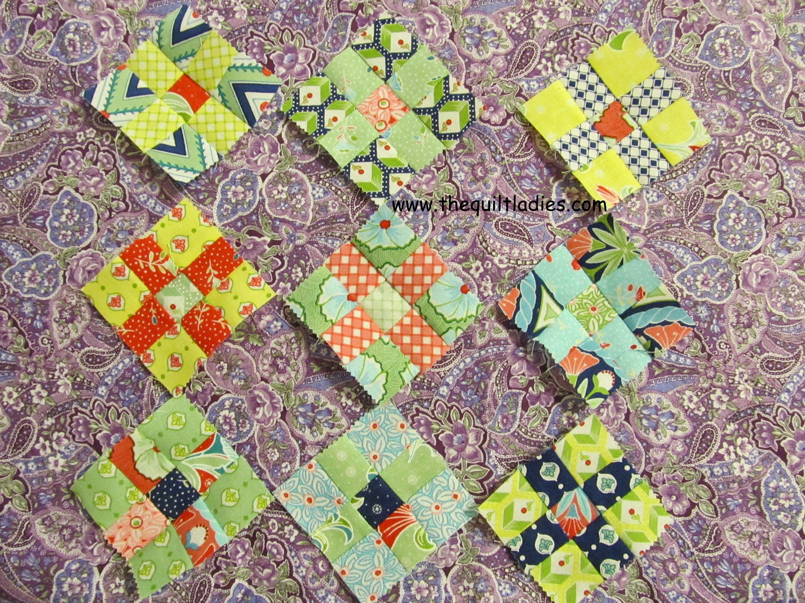 how to make a nine patch quilted table topper