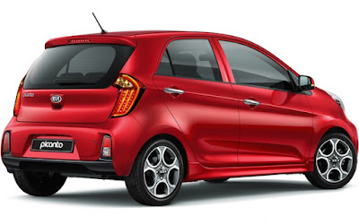 KIA Picanto right side rear view Images
