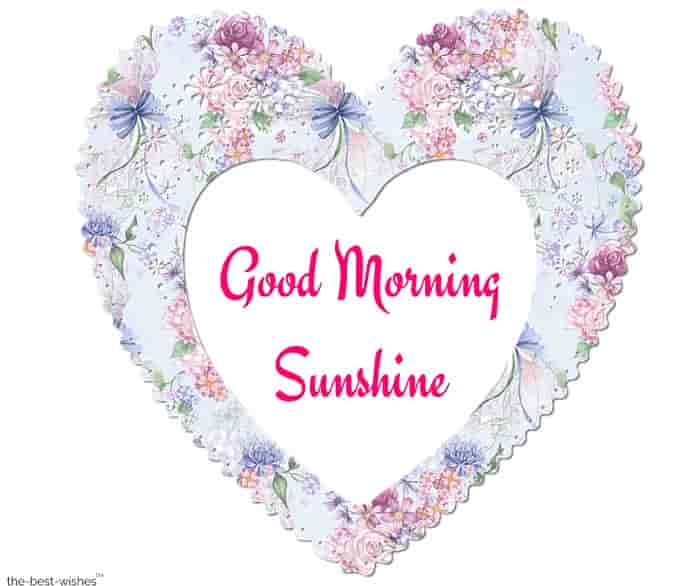 good morning sunshine photo