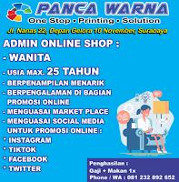 Info Loker Surabaya di Panca Warna Printing Januari 2021