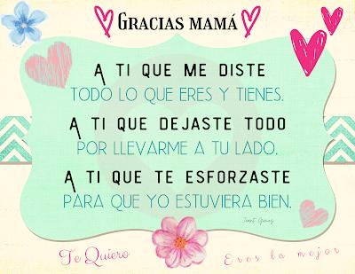 Mensaje para mamá en su día