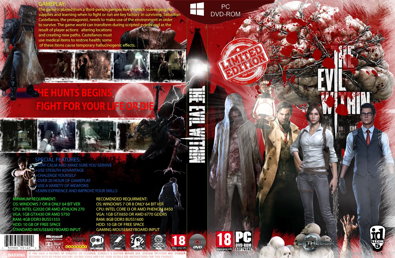 Capa The Evil Within Limited Edition PC