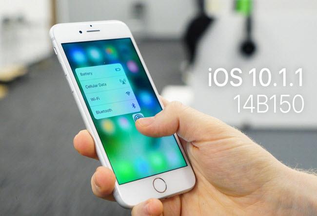 نظام iOS 10.1.1، آيفون