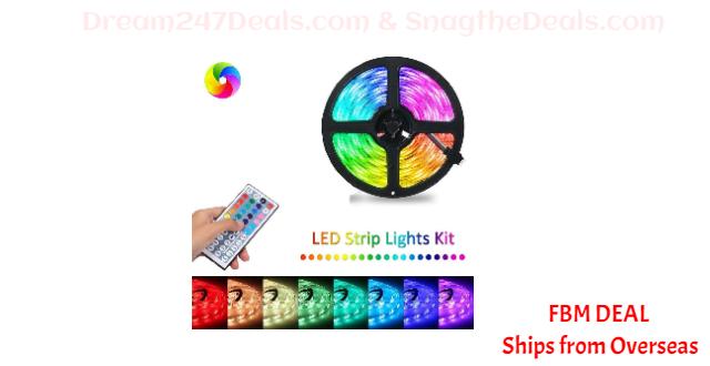 80%  off LED Strip Lights, 3528 SMD RGB Color Changing