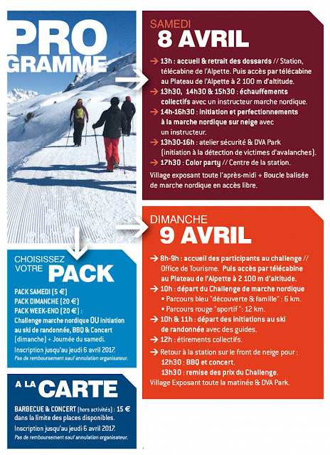Nordic Days Oz en Oisans 8-9 Avril 2017programme