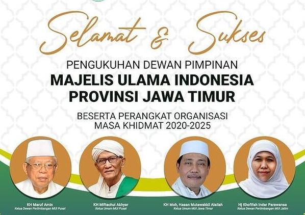 Susunan Pengurus MUI Provinsi Jawa Timur 2020-2025