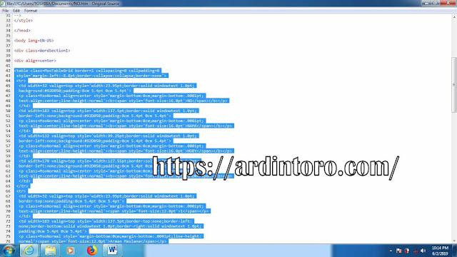 Cara Mudah Membuat Tabel di Postingan Blog, Ms Word, Table, Tutorial Blogging