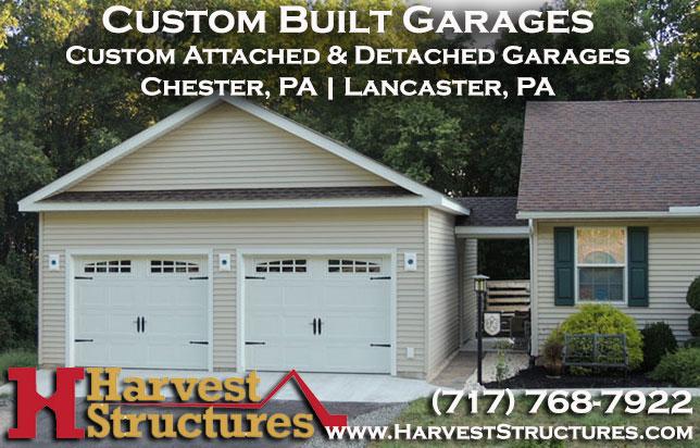Detached Garage Built In Lancaster Pa: Harvest Structures: Custom Built Attached & Detached