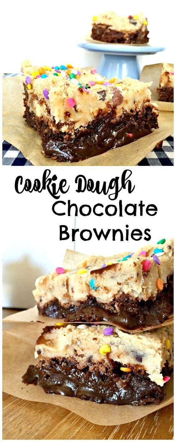 EASY COOKIE DOUGH BROWNIES