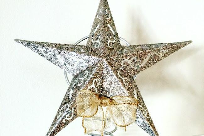 Glittered Dollar Store Spring Stars