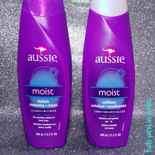 shampoo hidratante aussie; condicionador hidratante aussie; shampoo importado; condicionador importado; aussie moist; famoso aussie