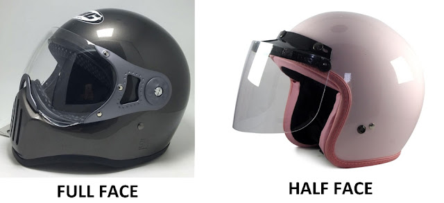 Helm berkendaraan, fungsi, kegunaan, macam