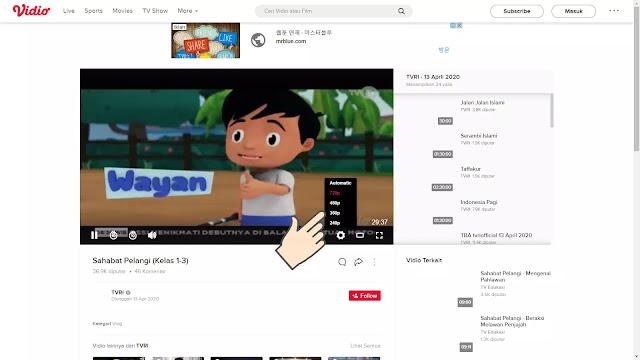 nonton online siaran TVRI yang ketinggalan di Vidio