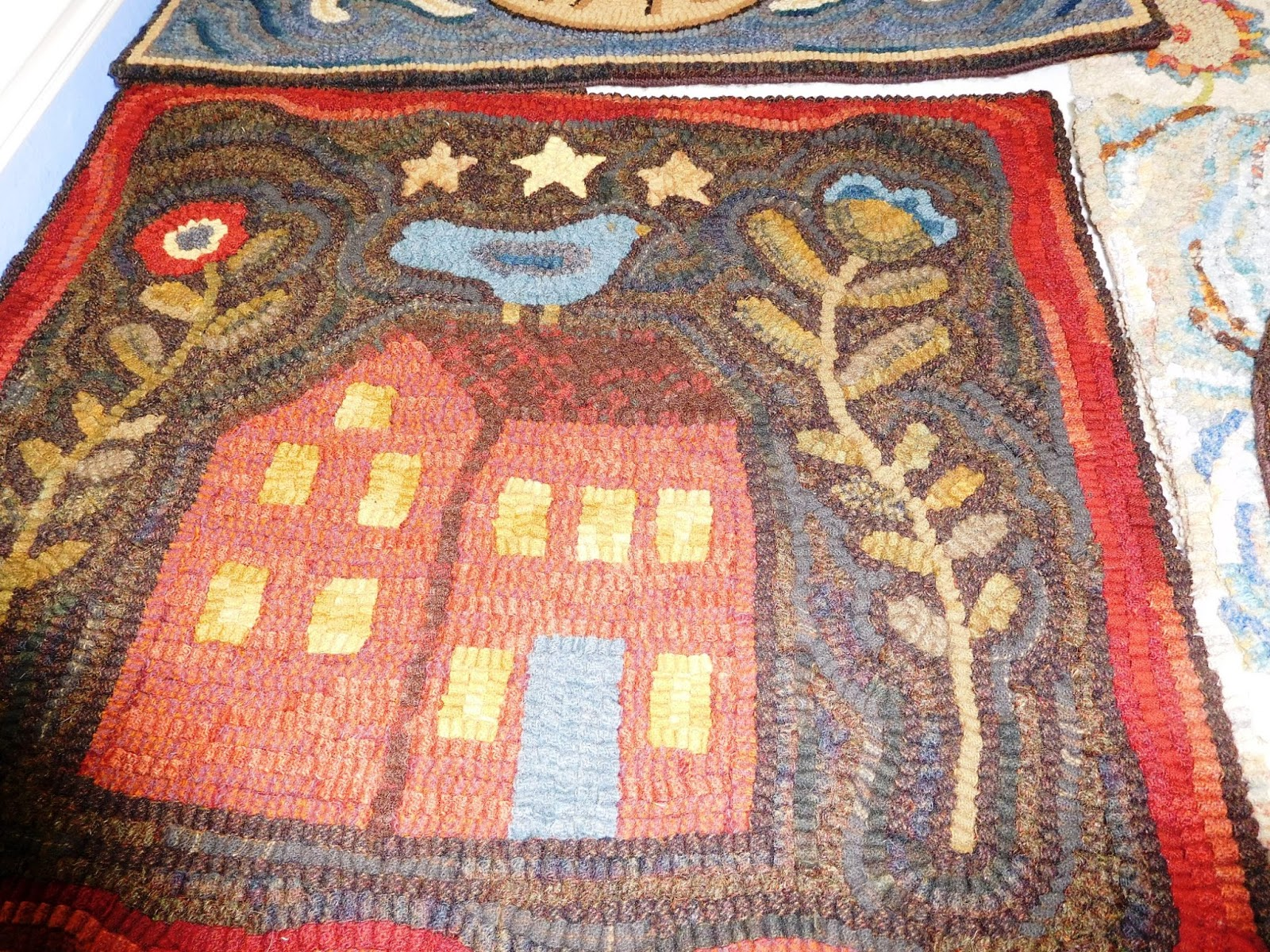 Back to Larkrise: Primitive Rughooking special exhibit at the San ... : quilt rugs - Adamdwight.com