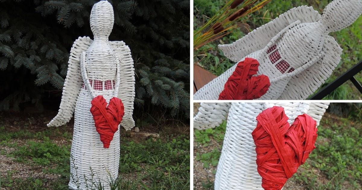 49b0775a4 ...plníme si naše sny...: Anjel a papierove pletenie.