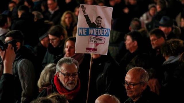 Alemanes indignados por auge de la extrema derecha en el país