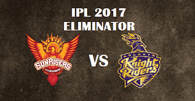 SRH vs KKR Head to Head IPL 2017 Playoffs Eliminator